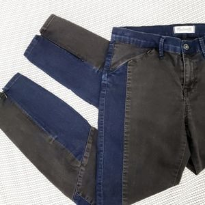 Madewell • Blue & Gray Color block Pants